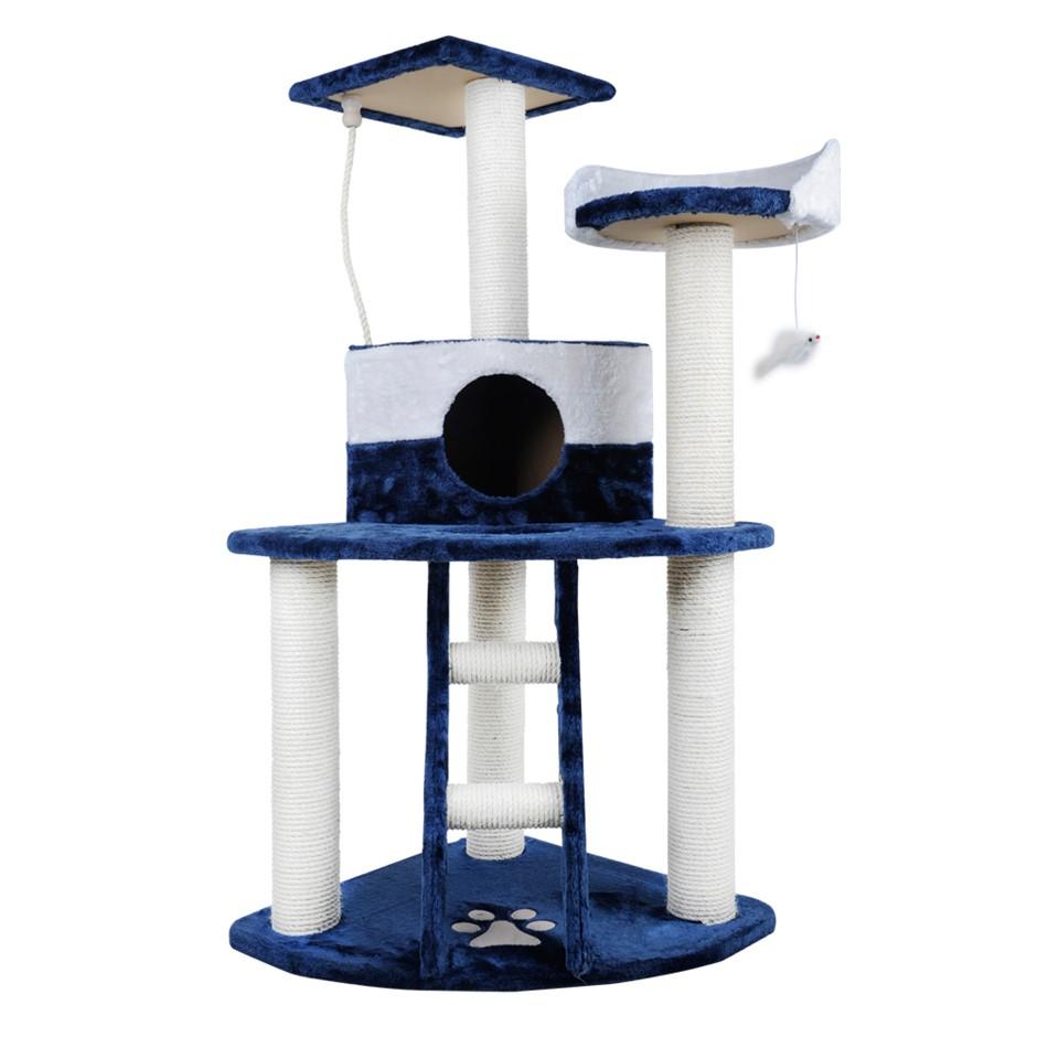 i.Pet 120cm Cat Scratching Tree - Blue & White