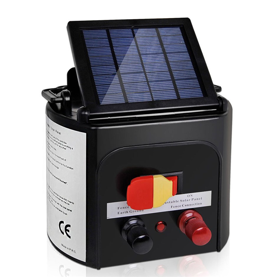 iantz 3km 0.1J Solar Electric Fence Energiser Farm Charger