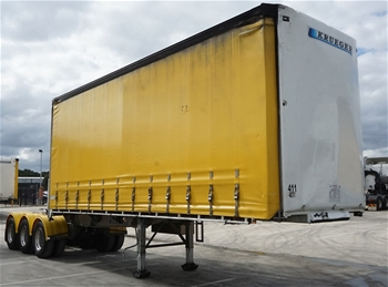 2016 Krueger ST-3-38 Triaxle Curtainside A Section Trailer
