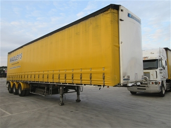 2012 Krueger ST-3-38 Triaxle Curtainside B Section Trailer