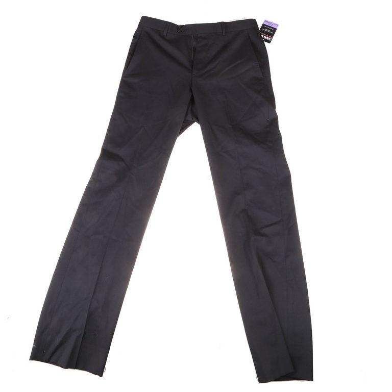 2 x SIGNATURE Men`s Custom Fit Dress Trousers, Size 30x32, Flat Front, 99%