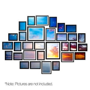 30 PCS Photo Frames Wall Set Hanging Col