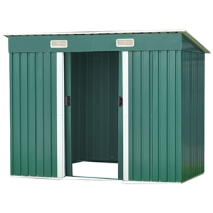 4ft x 8ft Garden Shed Flat Roof Outdoor