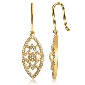 9ct Yellwo Gold, 0.24ct Diamond Earrings