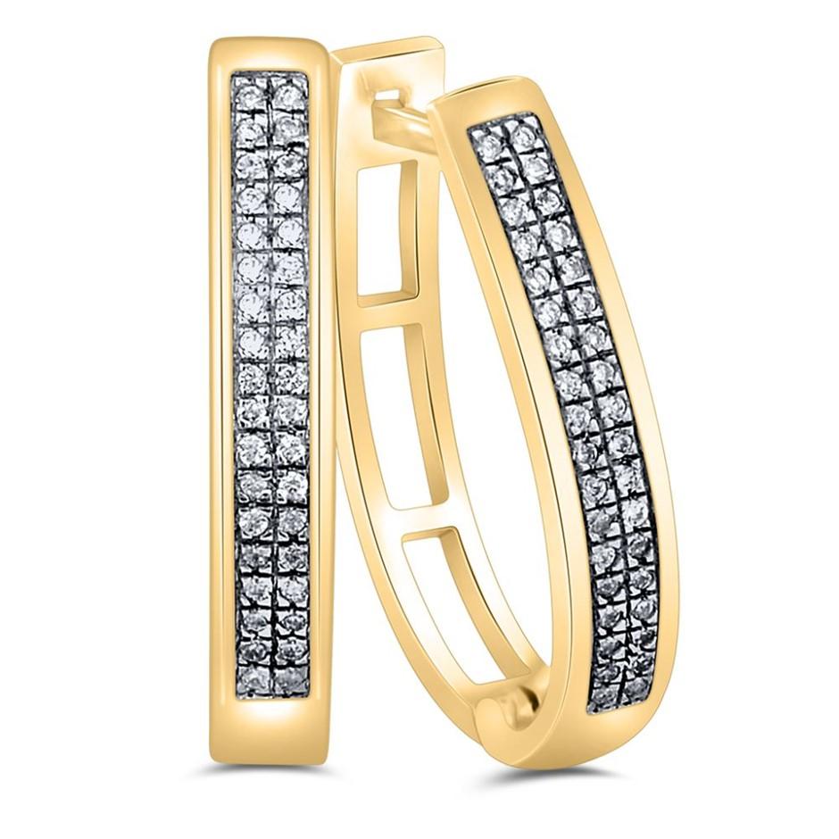 9ct Yellow Gold, 0.13ct Diamond Earrings