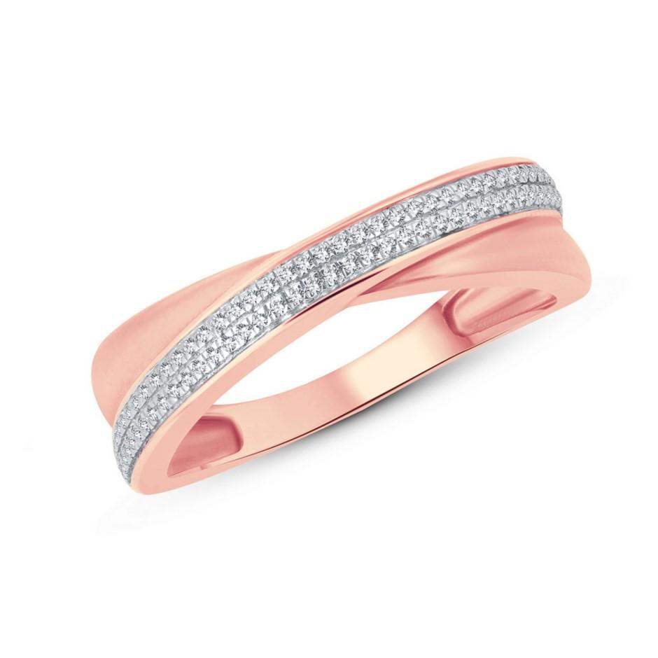 9ct Rose Gold, 0.08ct Diamond Dress Ring