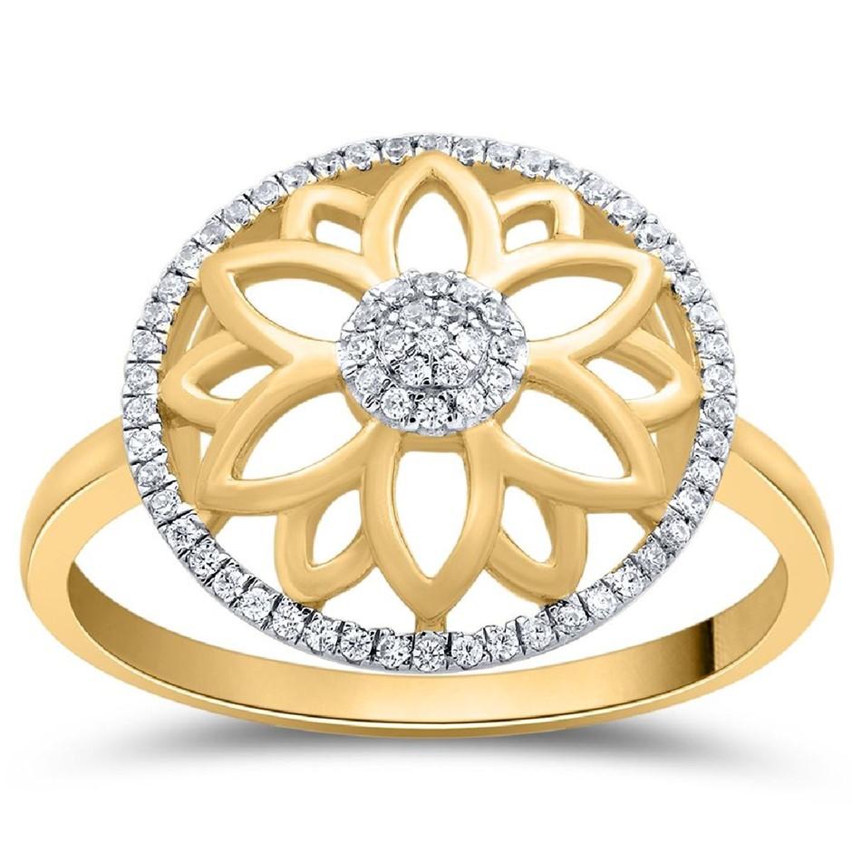 9ct Yellow Gold, 0.07ct Diamond Dress Ring