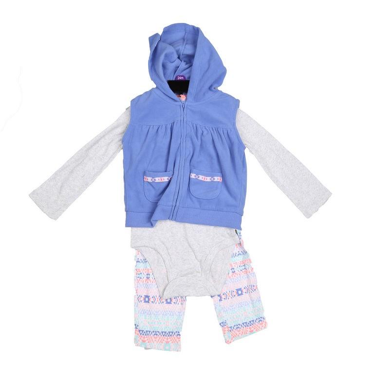 CARTER`S 3pc Girl`s Winter Clothing Set, Size 18M, Incl; Leggings, Onsie &