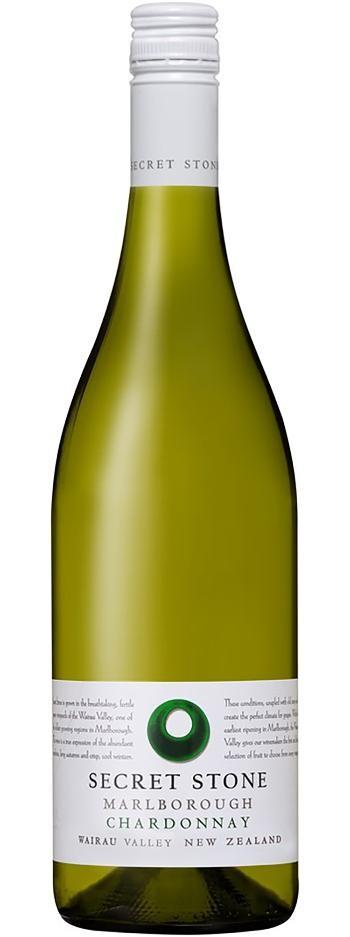 Secret Stone Marlborough Chardonnay 2018 (6 x 750mL), NZ.