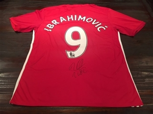 new arrival e7c0b beb63 2016 – Zlatan Ibrahimovic – Manchester United – Personally Signed Jersey