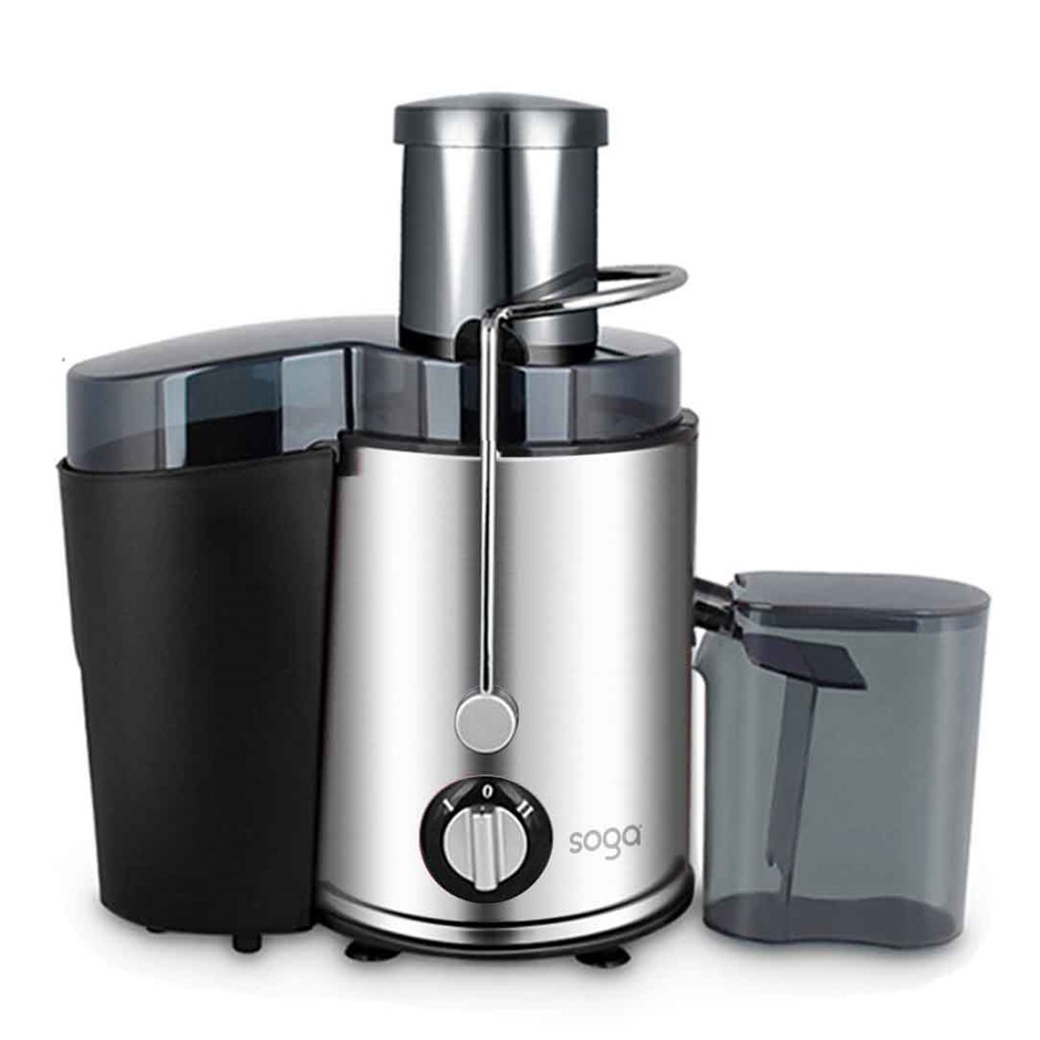 1000w Stainless Steel Whole Fruit Vegetable Juice Extractor Diet Chrome
