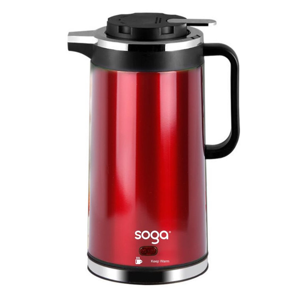 Cordless 1.8L Electric Kettle with Smart Keep Warm Function Red