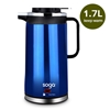 Cordless 1.8L Electric Kettle with Smart Keep Warm Function Blue