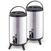 SOGA 2 x 8L Portable Insulated  Coffee Tea Barrel Brew Pot With Dispenser