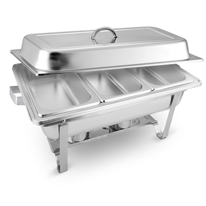 SOGA 3*3L Stainless Steel Chafing Food W