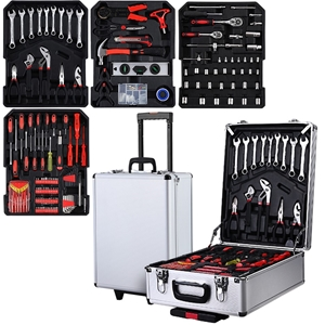 Giantz 802pcs Tool Kit Trolley Case Mech