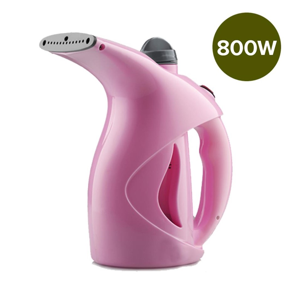 Hand Steam Cleaner Garment Clothes Steamer Compact Portable Quick Heat Pink