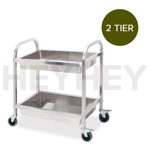 SOGA 2 Tier S/S Kitchen Trolley Bowl Col