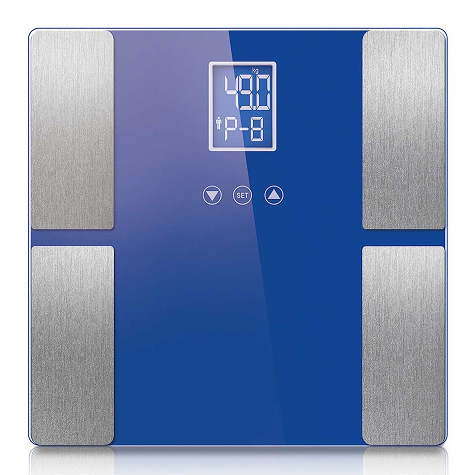 SOGA Blue Digital Body Fat Scale Bathroom Weight Glass Water LCD
