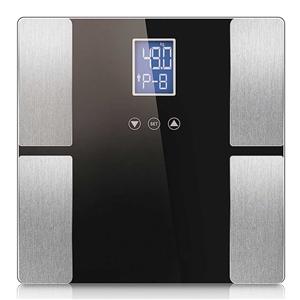 SOGA Black Digital Body Fat Scale Bathro