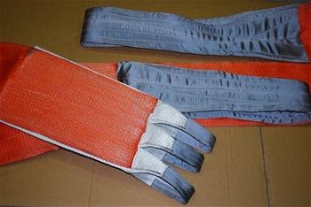 Flat webb lifting sling wll 10 000kg x 5 7m c w third eye for Outboard motor lifting strap