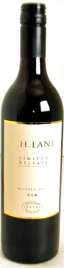 C.H. Lane `Limited Release` GSM 2013 (12 x 750mL), McLaren Vale, SA.