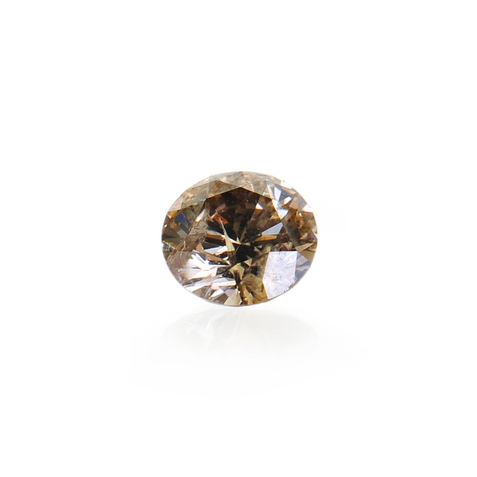 0.18ct light cognac natural diamond