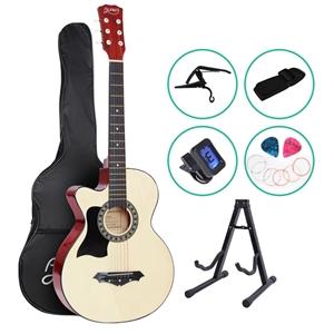 ALPHA 38 Inch Wooden Acoustic Guitar Lef