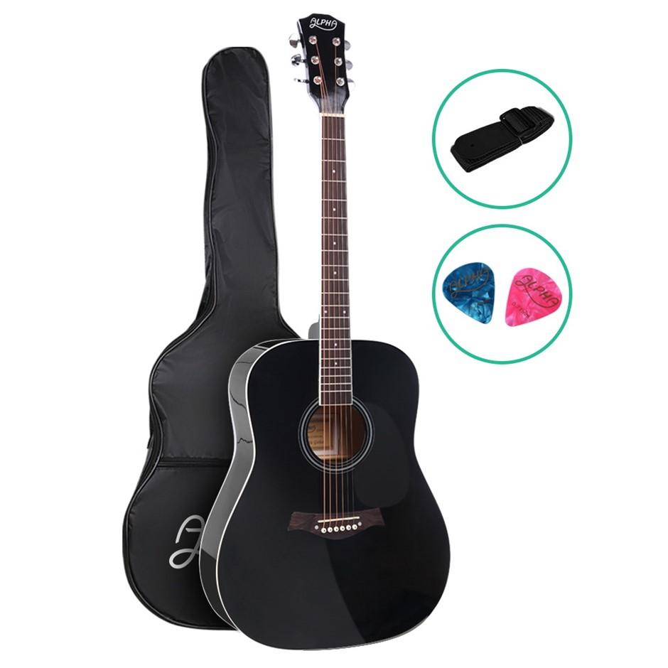 ALPHA 41 Inch Wooden Folk Acoustic Guitar Classical Cutaway Steel String