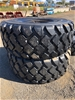 Qty of 2 x Unused 26.5R25 Radial Earthmoving Tyres