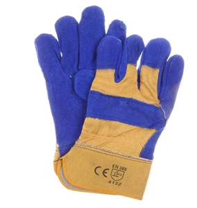 12 Pairs x Leather Cow Split Work Gloves
