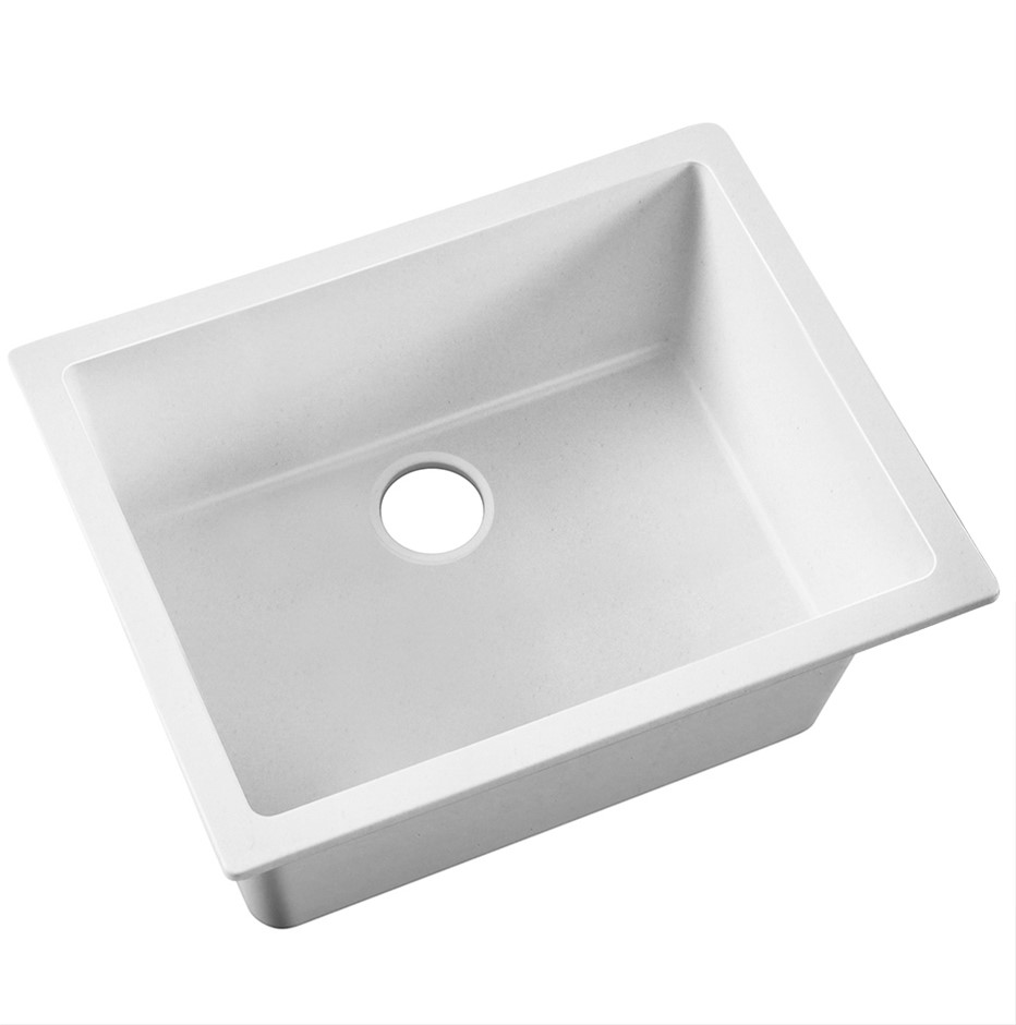 Cefito 610x470mm Granite Kitchen Laundry Sink Single Bowl Top / Undermount
