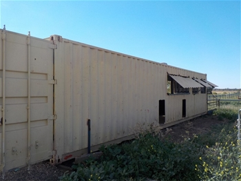 Container shearing shed