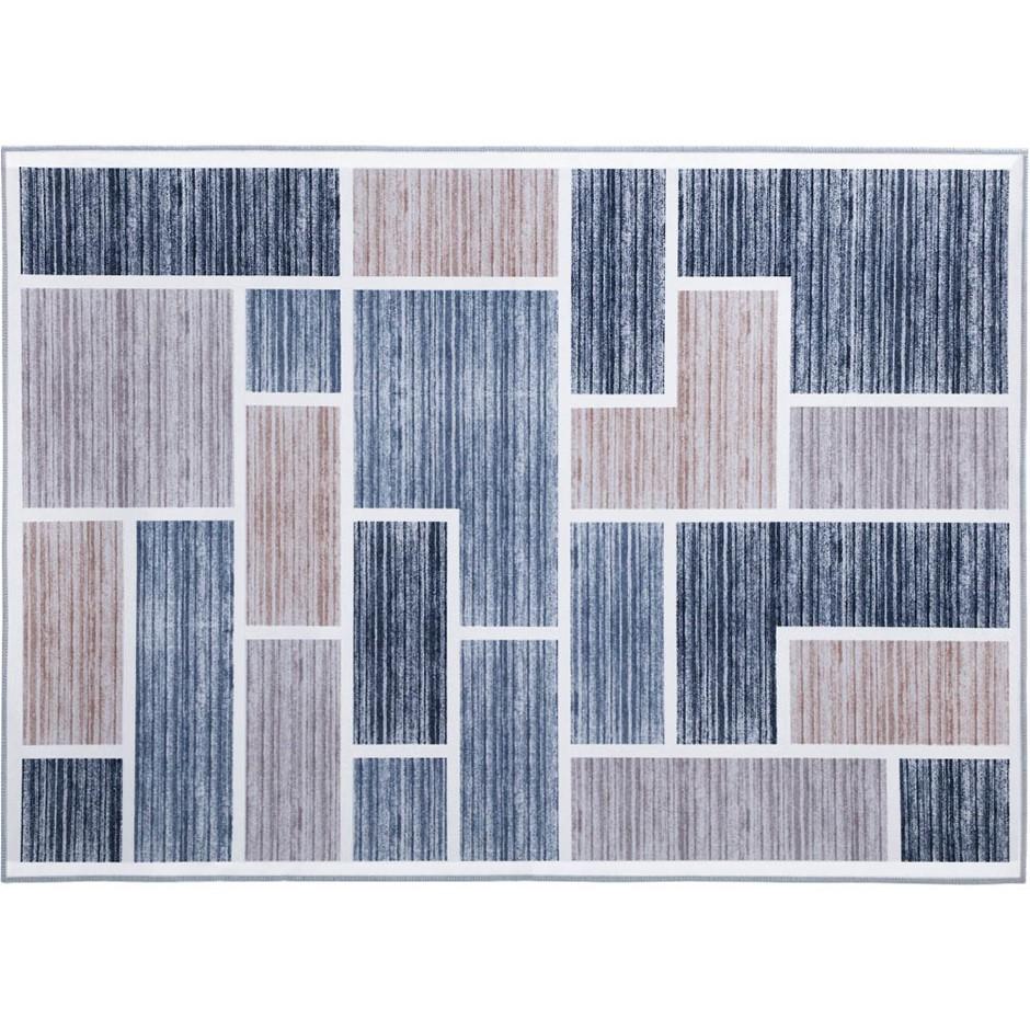 Artiss Short Pile Floor Rug 120x170 Area Rugs Large Modern Carpet Soft Grey