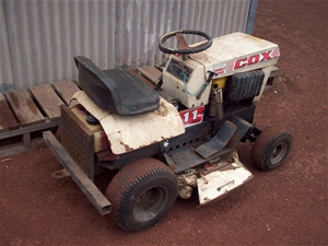 Cox Ride On Lawn Mower 11hp Auction 0092 3002416