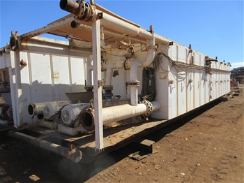 4x Skid Mounted Mud Tanks with Pumping Gear