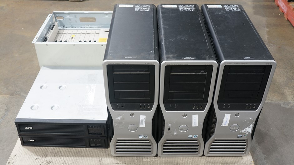 Pallet of Workstations and Networking and Telephony Hardware
