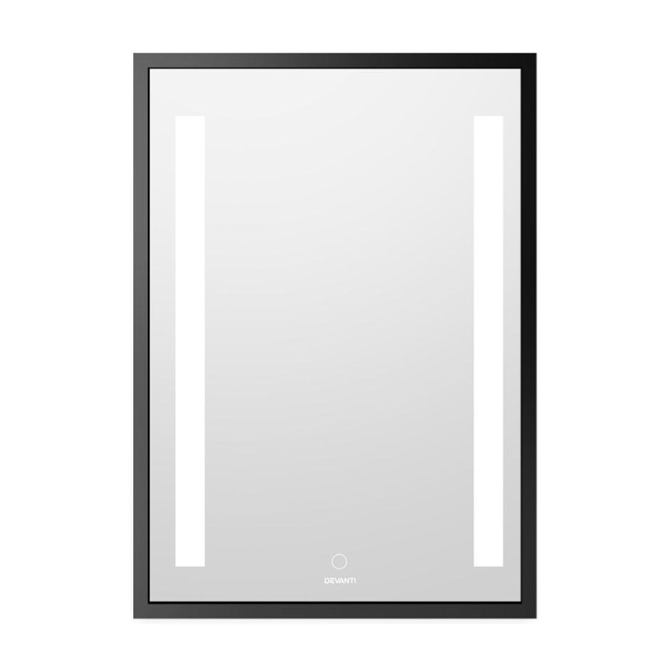 Devanti Bathroom Wall Mounted Mirror LED Light Dressing Vanity 700mm