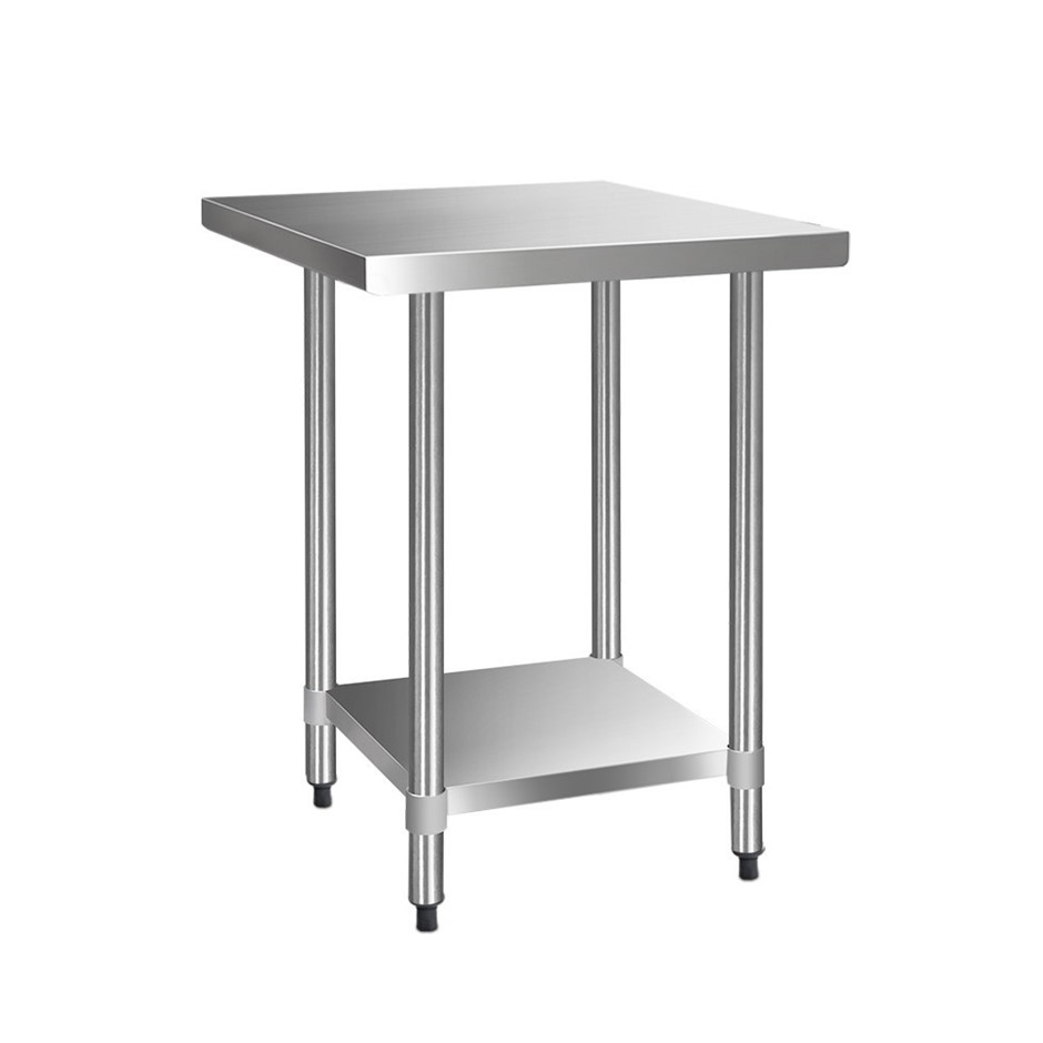 Cefito 760x760mm Commercial Stainless Steel Kitchen Bench 430 Food Table