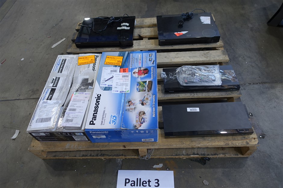 Pallet of Assorted Brand USED/UNTESTED Audio/Video Products