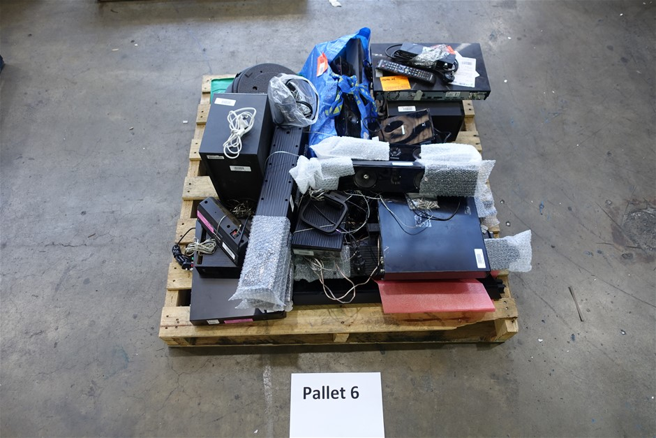 Pallet of Assorted Brand USED/UNTESTED Home Theatre Systems