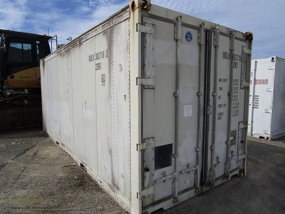 "Fruehauf 20"" Alloy Lined Reefer Container"
