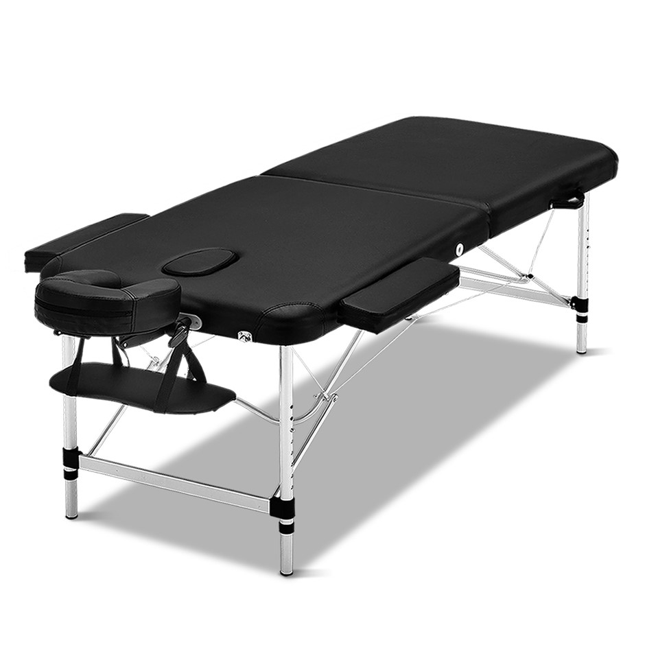 Zenses 70cm Portable Aluminium Massage Table Two Fold Treatment Therapy