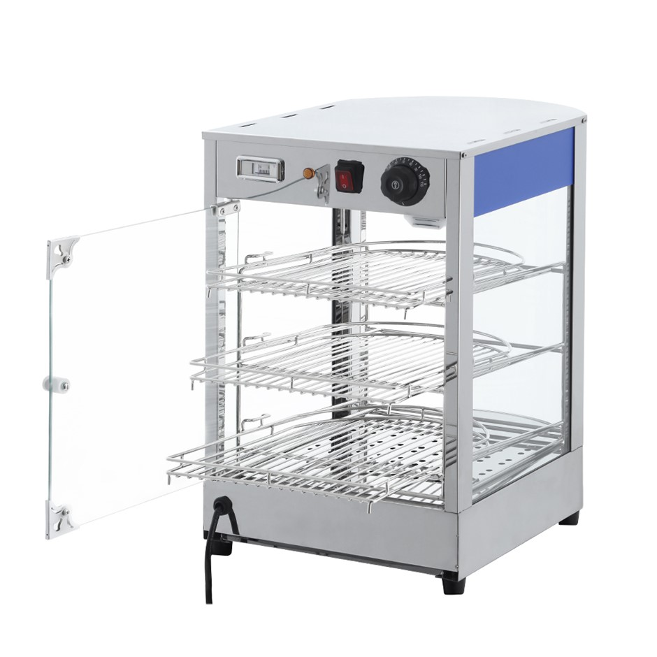 Devanti Commercial Food Warmer Pie Pastry Hot Showcase Stainless Steel