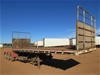 1987 General Transport Equipment 3-2 Triaxle 'A' Section Flat Top Trailer