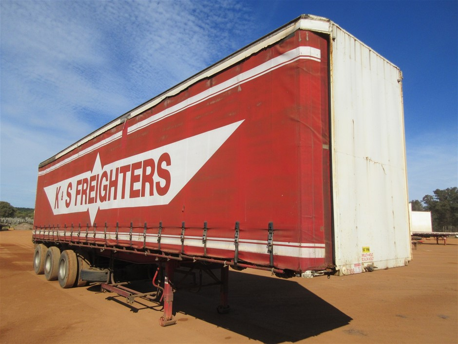 1985 Consultrans Tri Axle 41ft Curtain Side Trailer