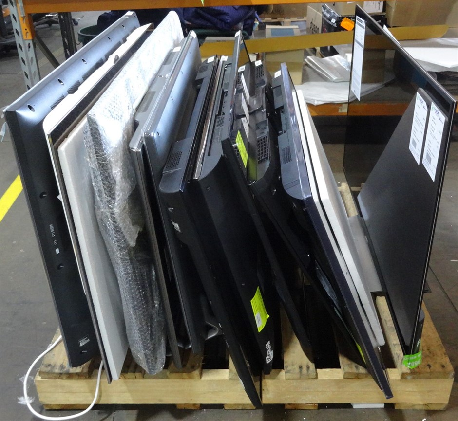 Pallet of Assorted USED/UNTESTED Televisions