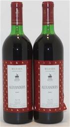 Mildara `Alexanders` Cabernet Blend 1991 (2x 750ml), Coonawarra. cork