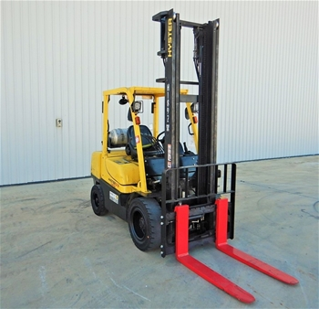 2011 Hyster H3.5TX-2LE 4 Wheel Counterbalance Forklift