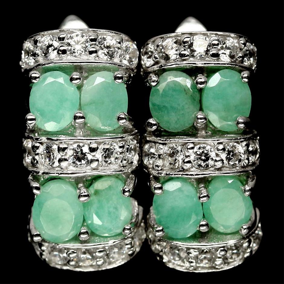 Beautiful Genuine Emerald Earrings